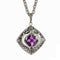 Guy Harvey Double Marlin Amethyst Necklace