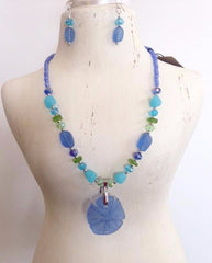 Sand Dollar Beaded Necklace Set FN777