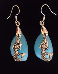 Mermaid Sea Glass Earrings