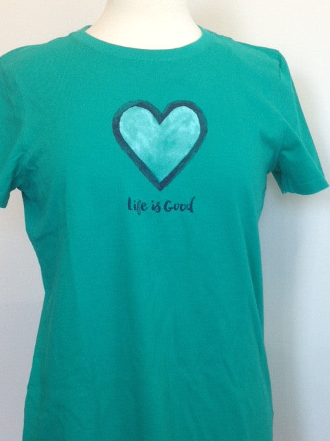 Life is Good Women's Heart Tee