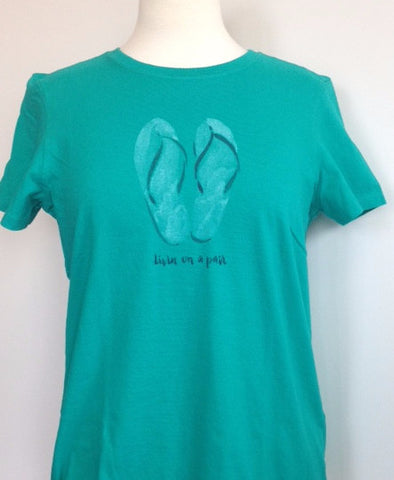 Life is good Women's Flip Flop Tee 48149