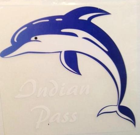 Indian Pass Dolphin Decal