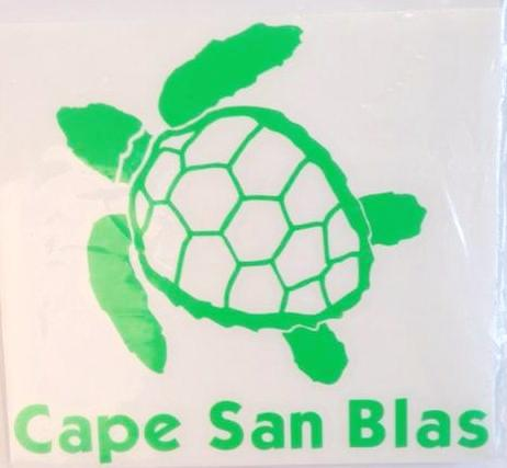 Cape San Blas Sea Turtle Green Decal