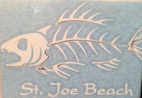 St. Joe Beach Angry Fish Decal