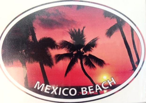 Mexico Beach Sunset Decal