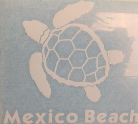 Mexico Beach Turtle Decal