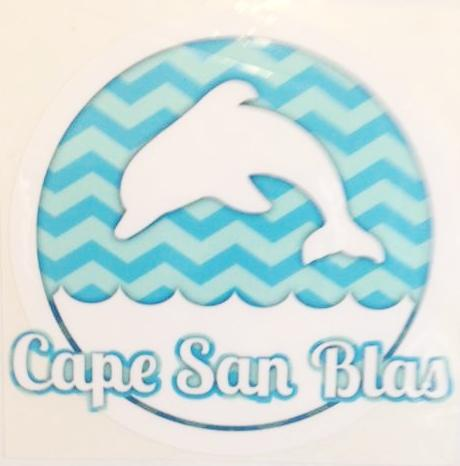 Cape San Blas Dolphin Decal