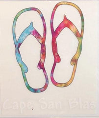 Cape San Blas Flip Flop Decal