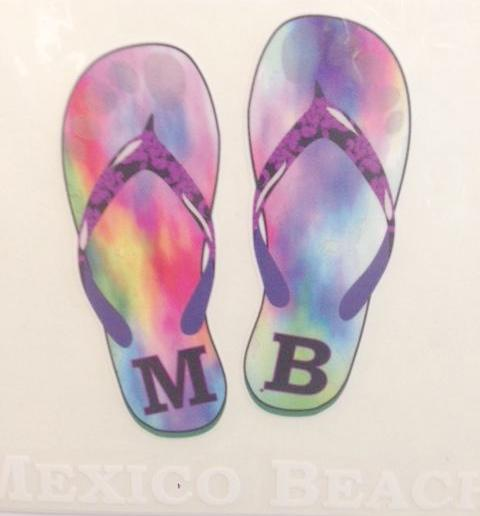 Mexico Beach Flip Flop Decal MB