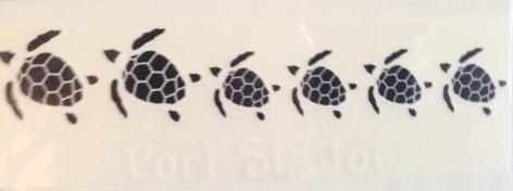 Port St. Joe Turtle Family Decal