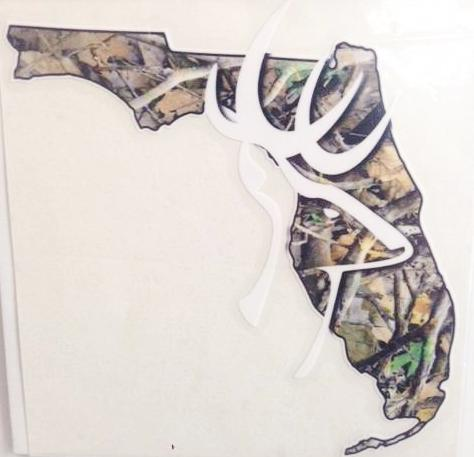 Florida Buck Camo Decal