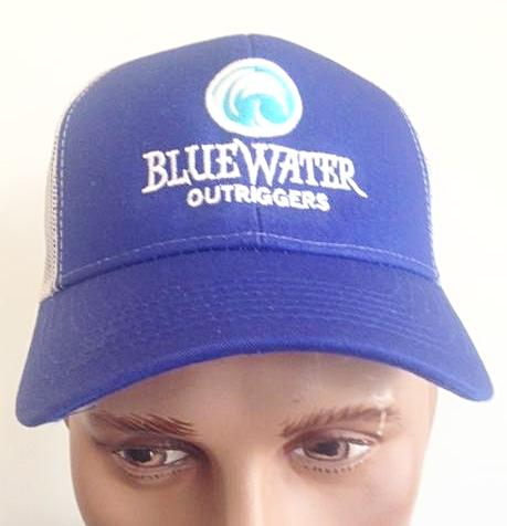 BWO Structured Mesh Back Logo Cap Blue