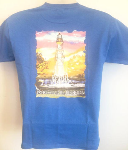 Youth BWO Lighthouse T-Shirt Iris Blue