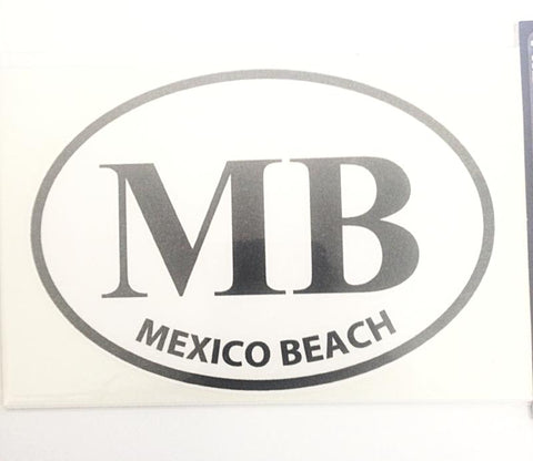 Mexico Beach Large Oval Decal