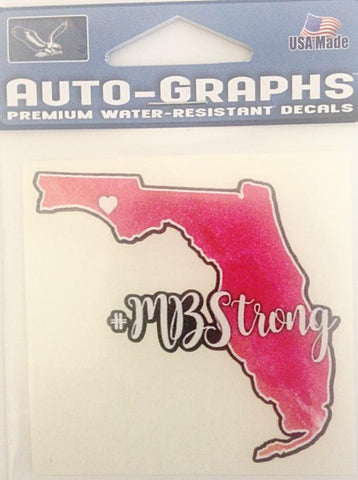 Mexico Beach Strong FL Small Decal