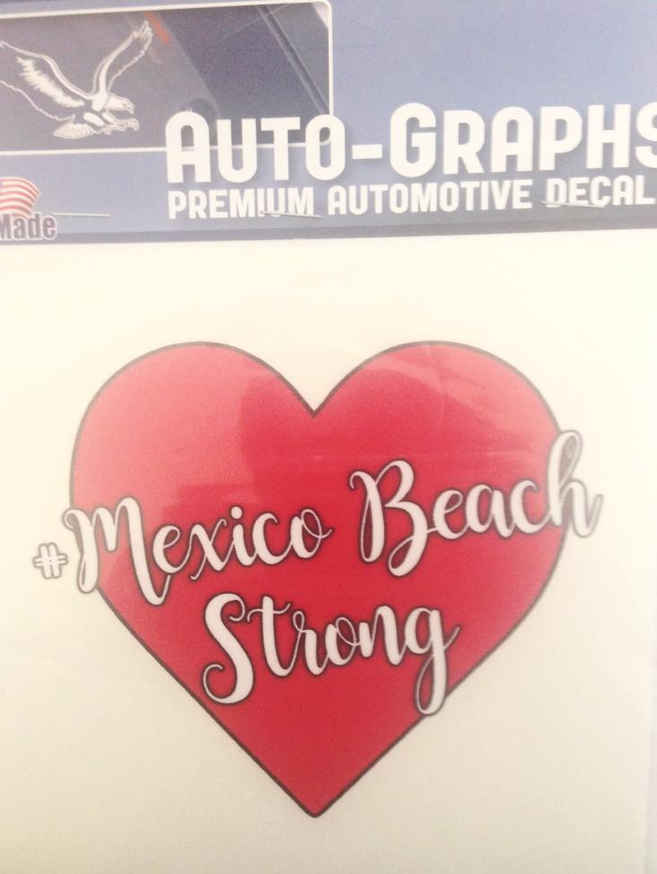 Mexico Beach Strong Large Heart Decal