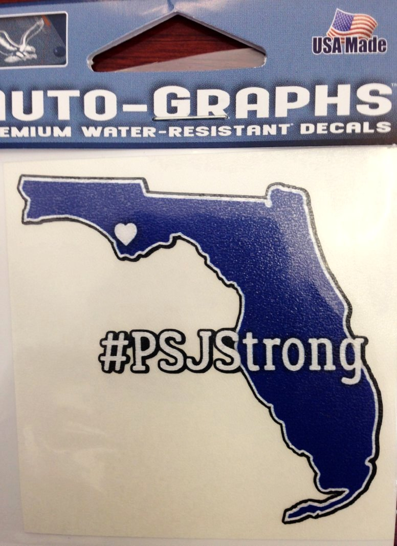 Port St Joe Strong Small Decal