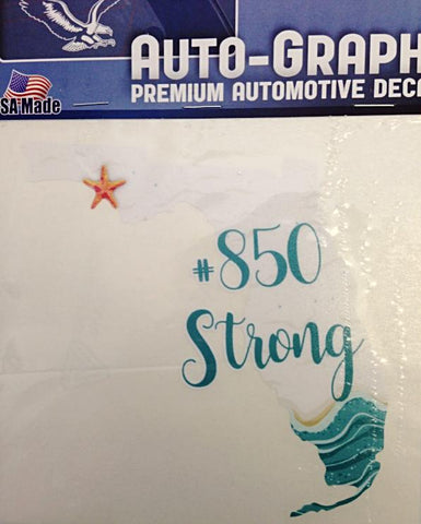 850 Strong Large FL State Decal