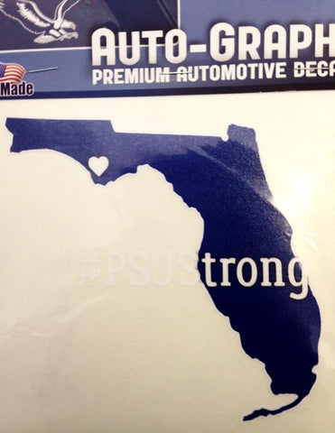 Port St Joe Strong Large FL State Decal