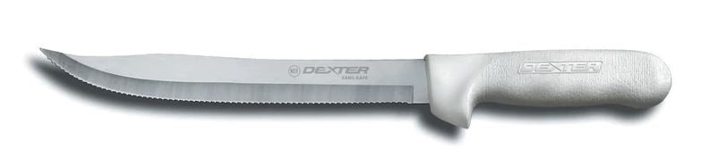 "Dexter Sani-Safe 9"" Scalloped Utility Slicer"