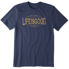 Life Is Good Men's Classic Message