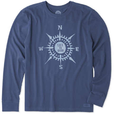 Life Is Good Men's Compass Long Sleeve