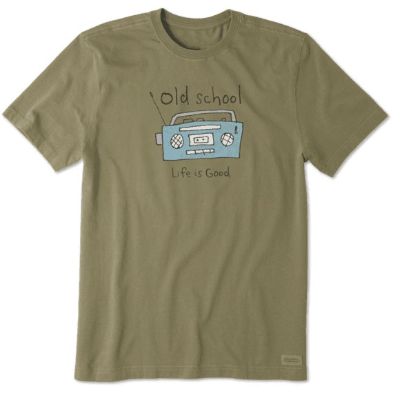 Life Is Good Old School Radio Crusher Tee