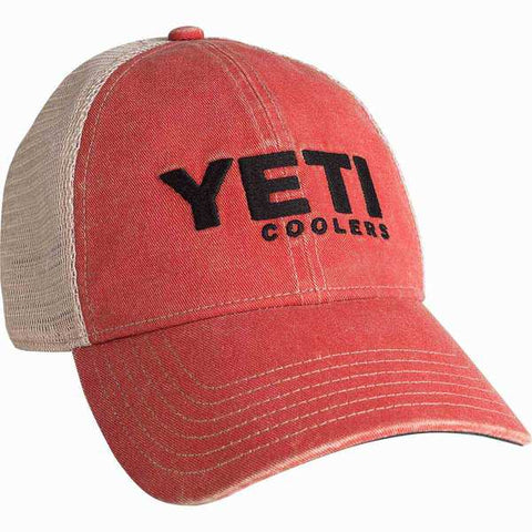 YETI Washed Low Pro Trucker Cap Red