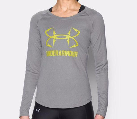 Under Armour Women's Heatgear Hook Shirt Grey