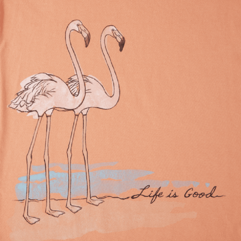 Life Is Good Women's Scoop Flamingos