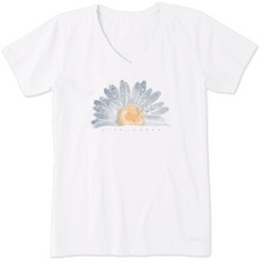 Life Is Good Women's Watercolor Daisy