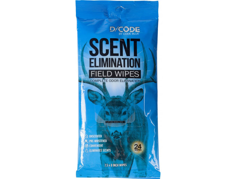 Code Blue D/Code Scent Elimination Field Wipes 24pk