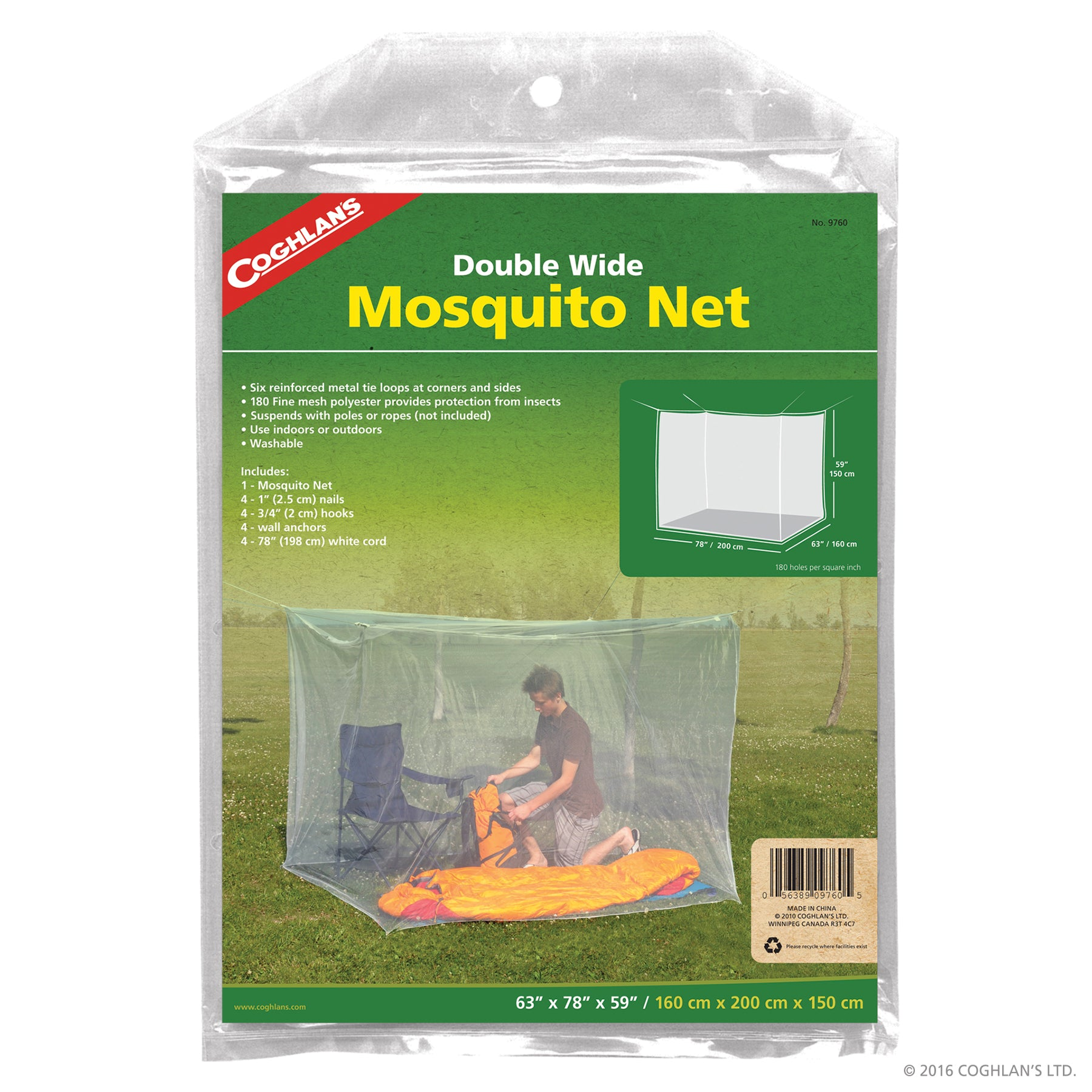 Coghlan/'s Mosquito Netting Canopy Bed Net Insect Bee White Mesh Shade Cover New!