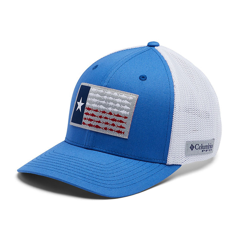 Columbia PFG Mesh Fish Flag Ball Cap -Texas