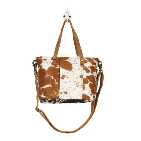 Myra Handbags Aptitude Leather & Hairon Bag