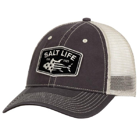 Salt Life Men's Red White And Blufin Mesh Back Hat