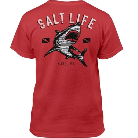 Salt Life Youth CAMO Shark Tee