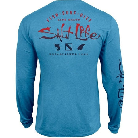 Salt Life Youth Faded Icons Performance Long Sleeve Tee