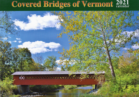 Covered Bridges of Vermont Calendar 2021