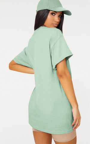LONELY ON FIRE - MINT OVERSIZED T SHIRT