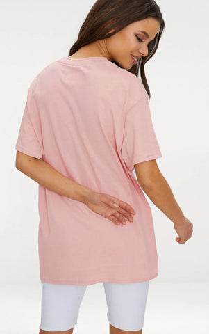 AVOIDING ADULTHOOD - NUDE OVERSIZED T SHIRT