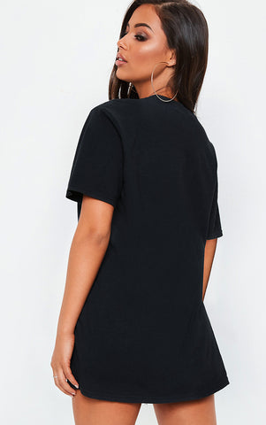 LONELY ON FIRE - BLACK OVERSIZED T SHIRT