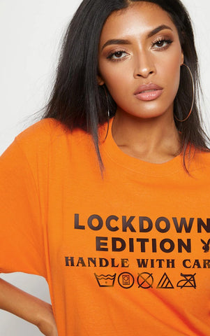 LOCKDOWN BUNNY - ORANGE OVERSIZED T SHIRT
