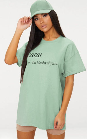2020 MONDAY - MINT OVERSIZED T SHIRT
