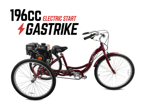 196cc Motorized Gas Tricycle - Electric Start