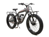 PHATMOTO™ ALL TERRAIN Fat Tire - 79cc Motorized Bicycle (Matte Graphite)