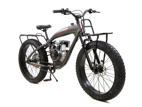 PHATMOTO™ ALL TERRAIN Fat Tire 2021 - 79cc Motorized Bicycle (Matte Graphite)