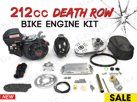 212cc Death Row Bike Engine Kit - 4-Stroke Gas Motorized Bicycle