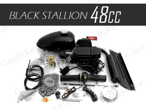 48cc Black Stallion 2 Stroke Angle Fire Slant Head Bicycle Engine Kit