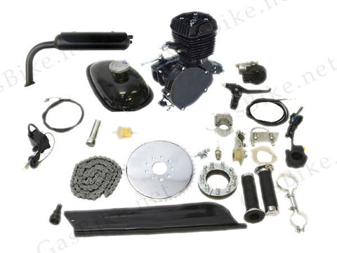 Black Flying Horse 66cc/80cc Bicycle Engine Kit Gas Motorized Bicycle